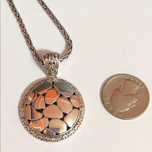 Effy Jewelry - Effy 925 & 18kYG pebble disc toggle necklace